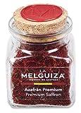 Zafferano premium in pistilli con Denominazione di origine La Mancha (Spagna) in Vasetto di vetro (5 GR)