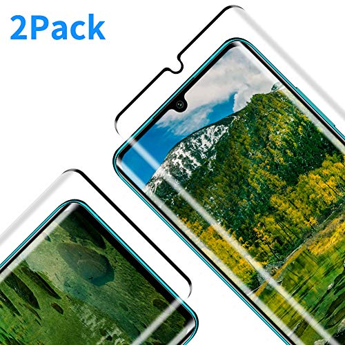 Protector Pantalla para Xiaomi Mi Note 10, [2 Piezas] Cristal Templado para Mi Note 10, [3D Cobertura Completa] [9H Dureza] [Resistente a Arañazos] Vidrio Templado para Mi Note 10