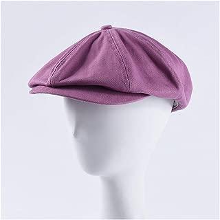 SHENTIANWEI New Cap Men's Wild Color Cotton Cloth Forward hat Female Casual Beret Painter hat (Color : Purple)