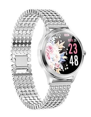 Frauen Smartwatch Diamant Armbanduhr Herzfrequenz Fitness Tracker Kalorienzähler Blutdruck Sport Uhr Wasserdicht Schlafüberwachung Erinnerungen