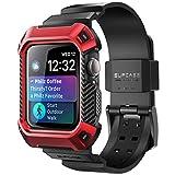 SUPCASE Apple Watch Series 2020 SE/6/5/4 44mm ケース 保護カバー バンド 44mm 衝撃吸収 アップルウォッチ シリーズ SE/6 対応 レッド