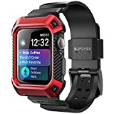 SupCase Funda para iWatch 44 mm Series 5/4 [UB Pro] Bandas de Correa Compatible con Apple Watch 44mm Series 5 / Series 4 (Rojo)