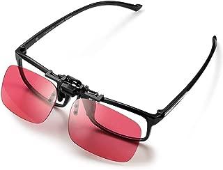 Pilestone GM-3 Color Blind Corrective Glasses for Red-Green Blindness (Color Blind Glasses)-Clip on, Same Lenses as GM-2