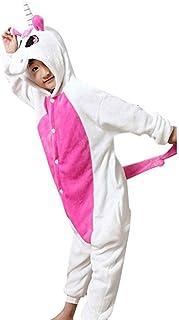 32df6433cb209 GWELL Unisexe Animal Pyjama Animaux Enfant Combinaison Cosplay Outfit  Vêtements de Nuit Déguisements Hiver Chaud Costume
