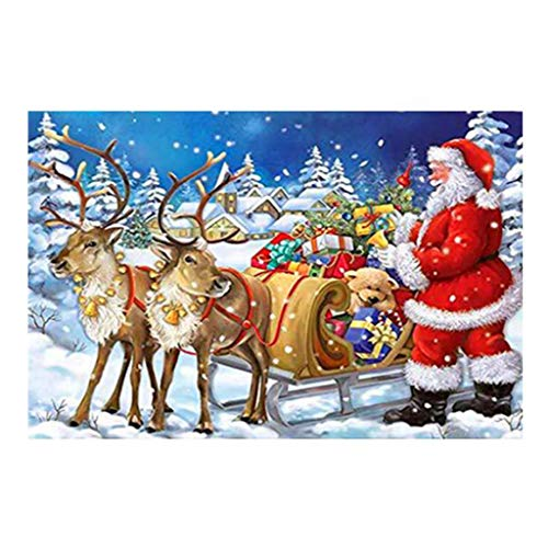 jieGorge Christmas 5d Diy Santa Claus Diamond Painting Embroidery Craft Rhinestone Pasted , Decors for Home Christmas New Year (Multicolor)