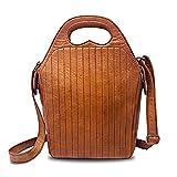 Vintage Handbag, Women Leather Purse Fits Tablet - Rofozzi by Purple Relic