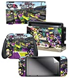 Controller Gear Nintendo Switch Skin & Screen Protector Set, Officially Licensed By Nintendo - Splatoon 2 'Vandals Vs Artist' - Nintendo Switch