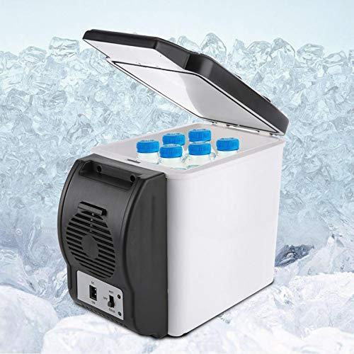GNLIAN HUAHUA refrigerador 12V 6L Capacidad Portátil Coche Refrigerador Más frío Calentador Mini Travel Frigorífico Congelador para el hogar Caja de refrigeración del Dormitorio FrigoBar Geladeira
