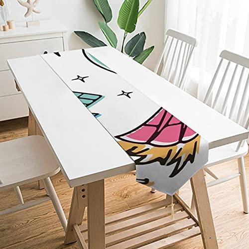 Free Brand Camino de mesa de 228,6 x 33 cm, cohetes de nave espacial, planetas, arte infantil, decoración de mesa para boda, diseño de mantel, decoraciones al aire libre picnics mesa de comedor