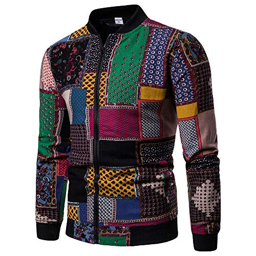 FRAUIT Giacca Uomo Primaverile Classico Felpe Full Zip Tasche Elegante Maglietta Manica Lunga Slim Fit Stampa 3D Cardigan Vintage Sweatshirt Casual Tops Sportivo Outwear Cappotto Cotone Inverno