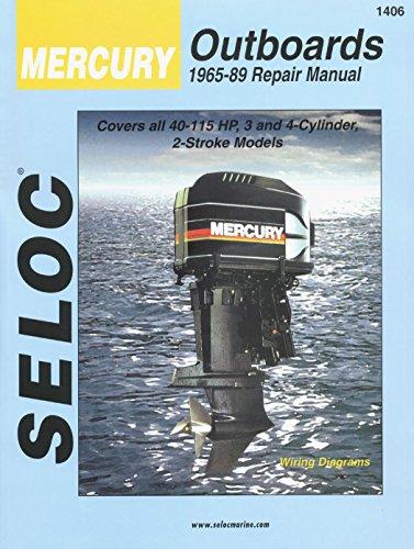 Sierra International Seloc Manual 18-01406 Mercury Outboards Repair 1965-1989 40-115 HP 3-4 Cylinder 2 Stroke Model