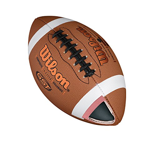 Wilson American Football, Freizeitspieler, Jugendgröße, GST OFFICIAL COMPOSITE, Braun, WTF1784XB