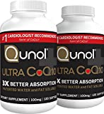 Qunol Ultra CoQ10 100mg, 3x Better Absorption, Patented Water and Fat Soluble...