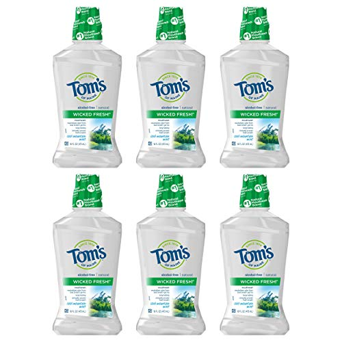 Tom's of Maine Wicked Fresh! Mouthwash, Natural Mouthwash,...