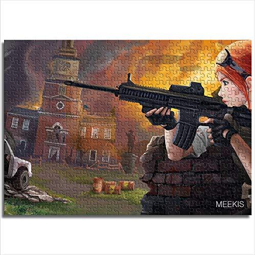 CAFO Mansion Jeep Weapon Monument Guante Revolution Pintura Patrón Patrón Montaje Mini 1000 Piezas Papel Puzzle