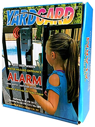 YardGard Gate and Window Alarm, Grey – Water-Resistant, Battery Operated 120 dB Alarm, Works as a UL Compliant Gate/Window/Swimming Pool Alarm, Easy to Install, YG03
