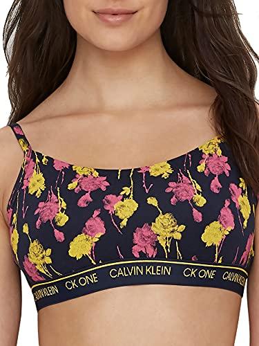Calvin Klein Women's Ck One Cotton Unlined Bralette, Sweet Rosie Print, S