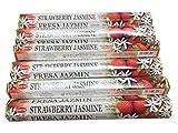 ABN Fashion Hem - Varillas de incienso de jazmín de fresa (6 unidades)