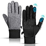 KEZKALS Mens Thermal Waterproof Gloves - Secret Santa Gifts for Men, Cycling Touch