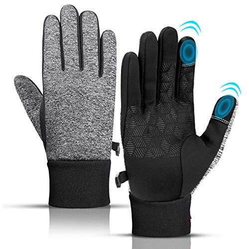 KEZKALS Handschuhe Herren Touchscreen - Geschenke für Männer, Outdoor Fahrradhandschuhe Handschuhe Damen, Adventskalender Männer 2020 zum Befüllen, Winter Warm Sporthandschuhe Winddicht rutschfest