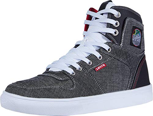 Levi's Mens Mason Hi 90S Fashion Hightop Sneaker Shoe, Black/Red, 9.5 M