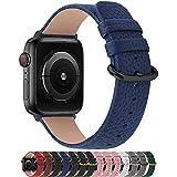 Fullmosa Compatible Correa Apple Watch 42mm Serie 3 Cuero,para 14 Colores Correa iWatch SE/Apple Watch 6/5/4/3/2/1 Nike+ Hermes&Edition, Marrón + Hebilla Gris Ahumado, 42mm