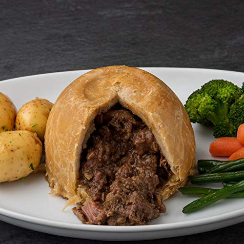Venison and Smoked Bacon Individual Suet Meat Pudding 4 x 420g on Averag