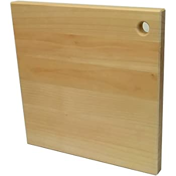 katajiya 正方形 木製まな板 国産 【いちょう無垢材使用】 Mサイズ(300*300 厚25) ハンドメイド品 ※削り直しサービス付※