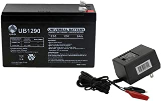 Universal Power Group 12V 9AH Battery for Lowrance Elite-3x Fish Finder with Charger