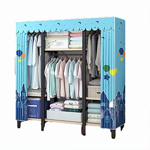FHISAO Stoffstoff Kleiderschrank, Aufbewahrungsschrank Organizer, Home Kleidung Kleiderschrank Regale Schlafzimmer Lagergestell Kleidung Kleiderschrank Regale (138 * 46 * 162 cm),Y