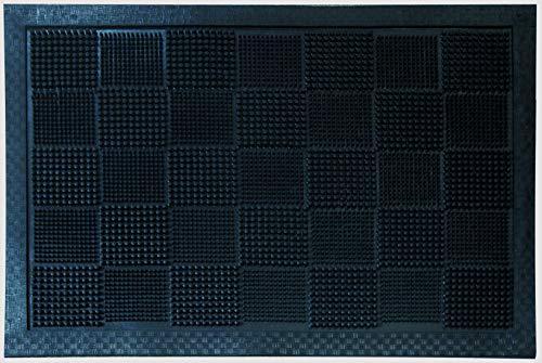 ID Mat Tapis Paillasson, 100% Caoutchouc, Noir, 40 x 60 cm