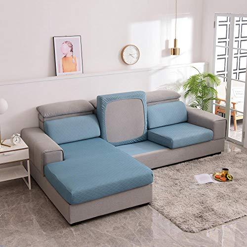 Homeen Stretch Sofa Sitzkissenbezug,Stuhl/Loveseat/Sofa Sitzbezug Schonbezug,High Stretch Sofakissenschutz,Polyester Spandex,Protect Sofakissen-Blau_großer 2-Sitzer