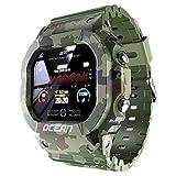 JKC Smart Watch Herren Fitness Tracker Blutdruck Nachricht Push Pulsmesser Uhr Smartwatch Frauen für Android