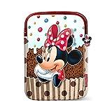 KARACTERMANIA Minnie Mouse Muffin-Tablet Skin Cover Umhängetasche, 28 cm, Braun (Brown)