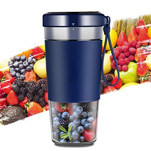Draagbare mixer, 350 ml accu-mini-sapper, USB-oplaadbare fruitsappers, smoothiemaker, mini-mixer, sapzuiger voor thuis, op reis, in de open lucht