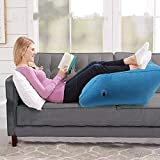 Queen.Y Leg Elevation Pillow,PVC Inflatable Leg Rest Foldable Inflatable Leg Pillow Wedge Cushion Knee Support Pillow for Puncture-resistant Reduce Swelling Improve Circulation Ideal Sleeping