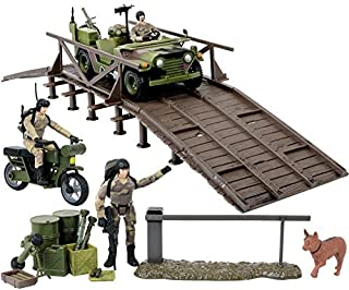 Click N' Play Military Expeditionary Logistics Engineering Unit 29 Piece Play Set with Accessories.