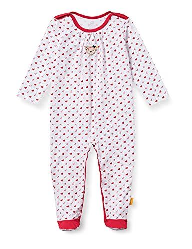 Steiff Baby-Mädchen Strampler Nachthemd, True RED, 086
