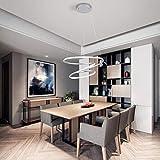 Lámpara de araña moderna LED de 70 W, lámpara colgante para mesa de comedor, 6000 K, color blanco, acrílico, 4200 lm,...