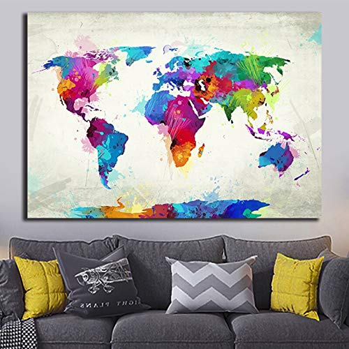 N / A Rahmenloses Gemälde Farbkarte Gemälde Modernes Poster Leinwand Wandkunst Bild Dekoriert FamilyZGQ8906 30x45cm