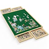"""Best Jigsaw Puzzles For Adults - Jigsaw Puzzle Board, 34""""x26"""" Wooden Jigsaw Puzzle Table Review"""