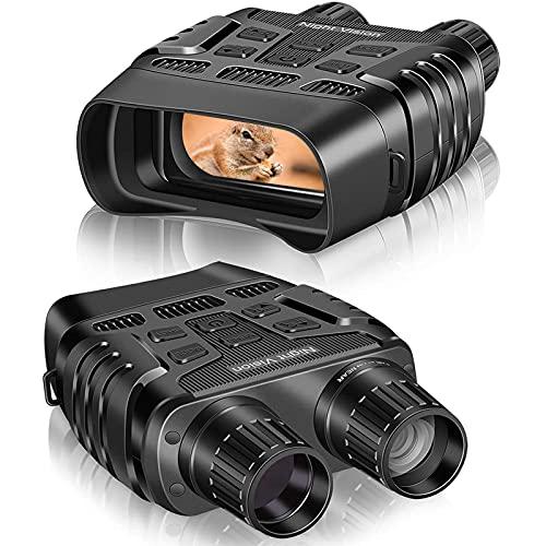 Lifbeier Nachtsicht Binokulars,IR Nachtsichtbrille 300M Nachtsicht Entfernung 960P nm IR Binokular mit integrierter 7-stufiger Infrarotbeleuchtung 4X Digitalzoom Digitales Nachtsichtgerät