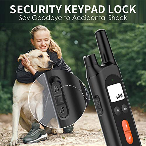 NVK Dog Training Collar – 2 Receiver Rechargeable Collars for Dogs with Remote
