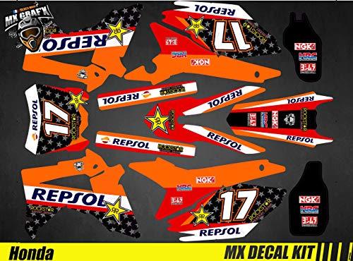 Kit de decoración para moto / MX Decal Kit Honda CRF – Repsol
