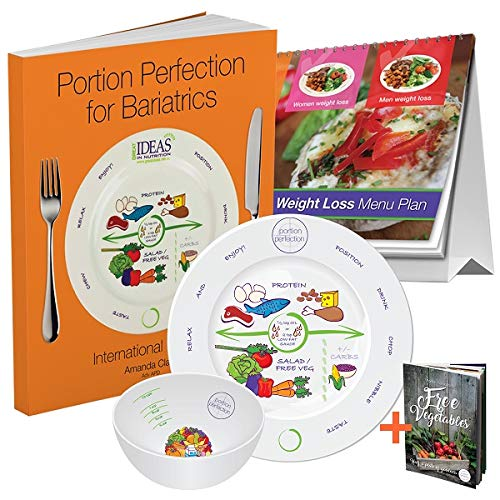 Bariatric Cookbook Surgery Weight Loss Program Kit Easy Tools for Portion Control Dieting After Sleeve Gastrectomy, Gastric Bypass, Balloon & Banding & Free Bonus Vegetable Cookbook
