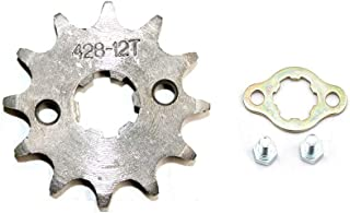 DSparts 12T Teeth 17mm 428 Chain Front Sprocket Cog Fit for 110cc 125cc 140cc PIT PRO PIT Bike Trail Bike Dirt Bike Thumpstar