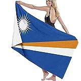 Tcerlcir Strandtuch Badetuch Saunatuch Duschtuch Ultra Leicht Handtuch Schnelltrocknend Saugfähiges Sporthandtuch Marshallinseln Flaggen 130X80cm