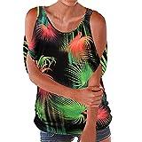 Manche Courtes Femmes,ITISME T-Shirt Sexy Femme Été Haut Batwing Impression...