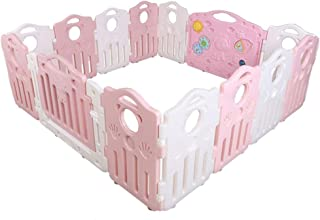 FCXBQ Amusement Park Plastic Baby Girl Kids Playground Leisure Center  Kids Nursury Home Interior Exterior Removable  Pink  Color  Panels