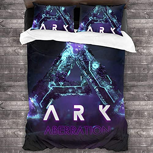 cuicui ARK: Juego de ropa de cama Evolved Survival Juego de ropa de cama de 3 piezas, cuidado fácil, adecuado para todas las estaciones (A05, 200 x 200 cm + 80 x 80 cm x 2)